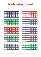 Addition up to 100 - Math Worksheets 2nd Grade