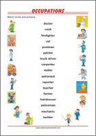 Learning Chart School Poster - Occupations