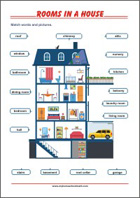 Learning Chart School Poster - Rooms in the House