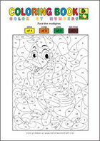 Color by Numbers Mixed operations - Math Worksheets 2nd Grade