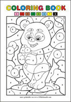 Color by Number - Free printables for kids