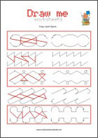 Draw a line - Fine motor skills practicing