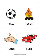 Printable sight-words flash cards - Learning German Words