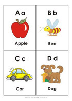 Printable sight-words flash cards - Letters