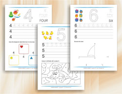 Learning Numbers up to 10 Worksheets