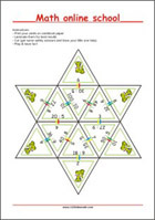 Math learning cards - Division - Math Worksheets 2nd Grade