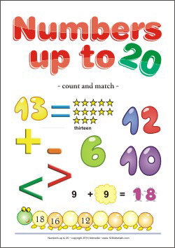 Numbers up to 20 Worksheets