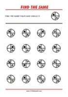 Match the Pairs - Worksheets To Improve Focus And Visual Attention