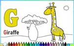 Online coloring game for kids - Learning letters