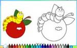 Online coloring game for kids