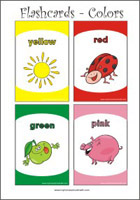 Printable sight-words flash cards - Learning Colors