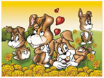 Online Jigsaw Puzzle - Dogs Valentine Day