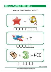 Printable Rebus Puzzles For Kids Myhomeschoolmath