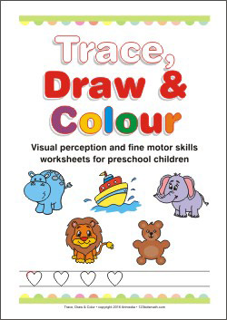 Trace, Draw and Color Worksheets