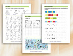 Visual Perception - Worksheets to improve visual perception - age 6-8