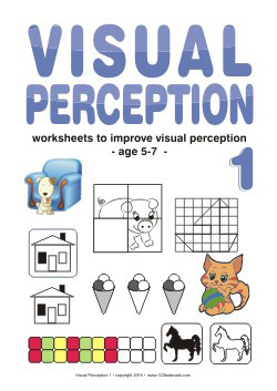Visual Perception - Worksheets to improve visual perception - age 5-7